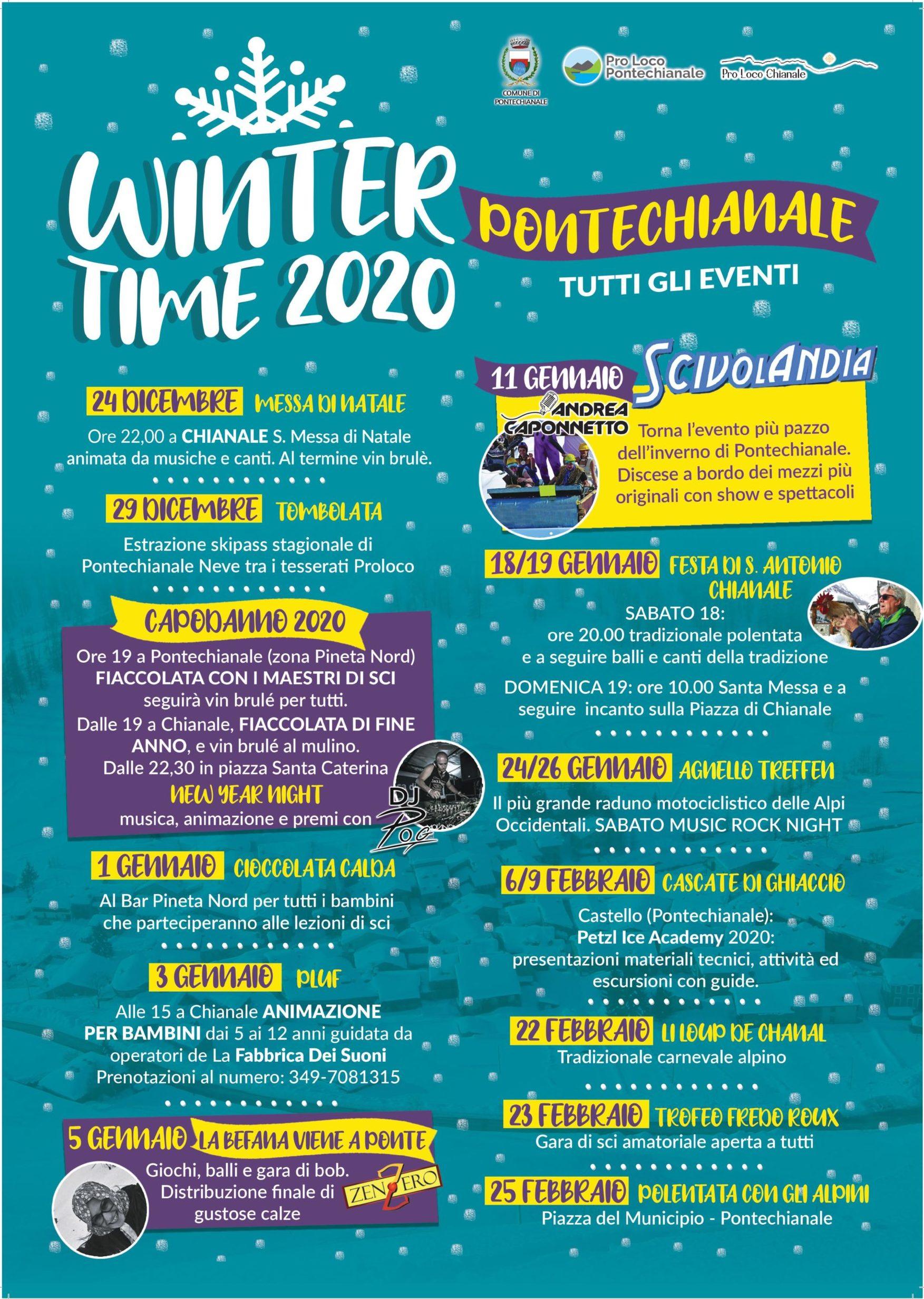 Calendario eventi stagione invernale 2019-2020